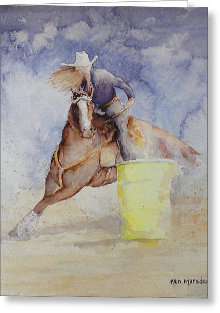 Rodeo Gal Two Greeting Card