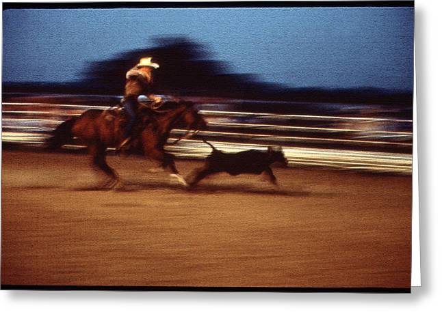Rodeo Greeting Card by Greg Kopriva
