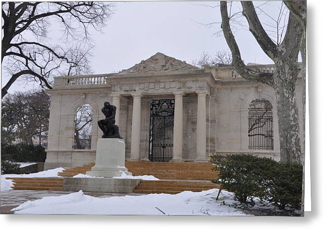 Rodin Museum - Philadelphia Greeting Card by Bill Cannon