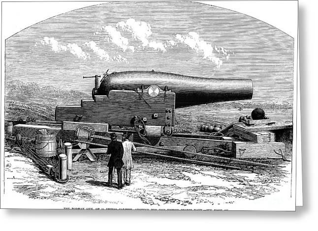 Rodman Gun, 1867 Greeting Card