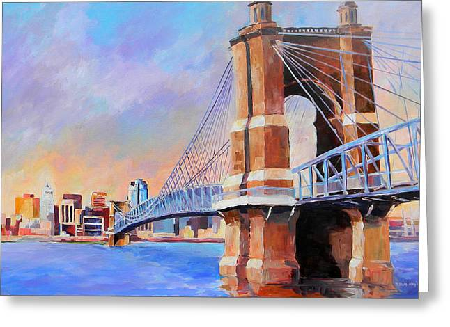 Roebling Twilight Greeting Card