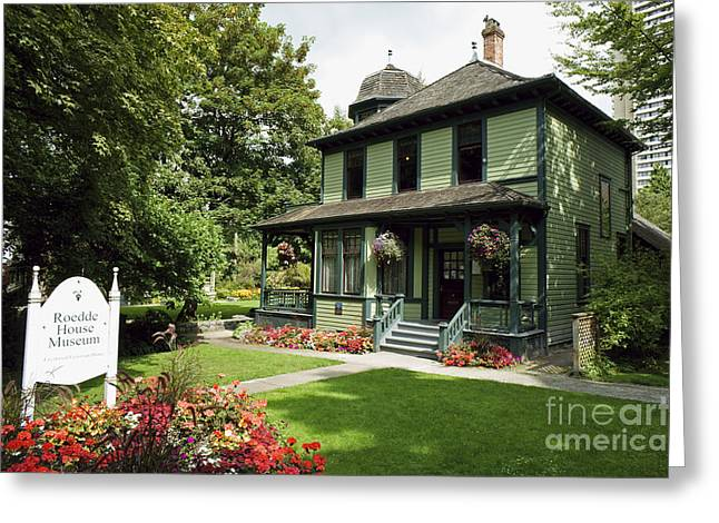 Roedde House Museum Vancouver Canada Greeting Card by John  Mitchell