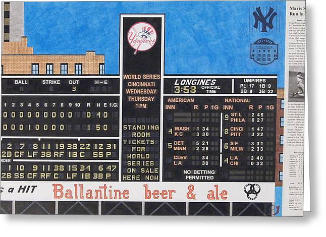 Roger Maris Hits Number 61 In 1961 Greeting Card