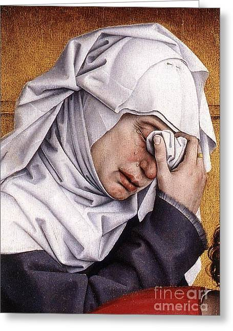 Rogier Van Der Weyden Desposition Greeting Card by Pg Reproductions