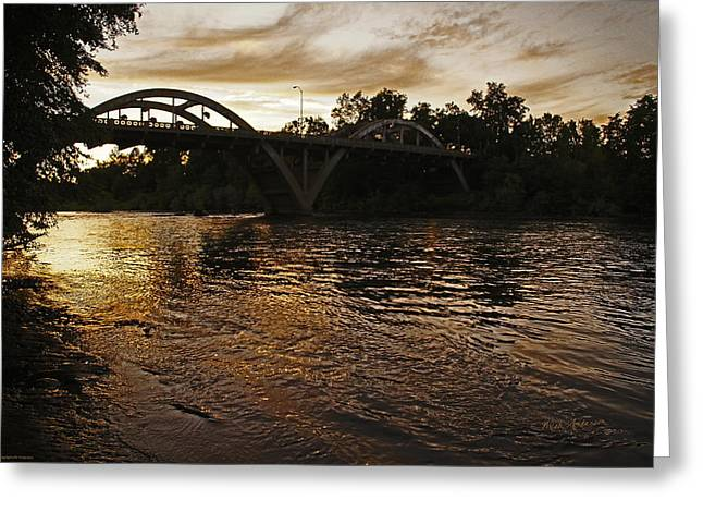 Rogue River Sunset Greeting Card