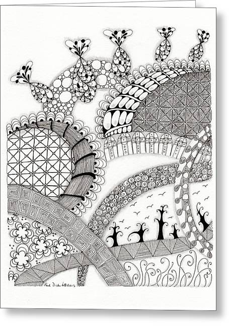 Roller Coaster Greeting Card by Paula Dickerhoff