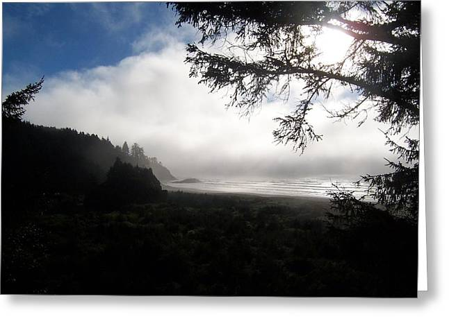 Rolling Fog Greeting Card by Peter Mooyman