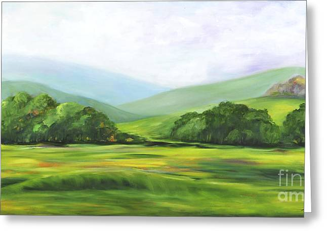 Rolling Hills In Springtime Greeting Card
