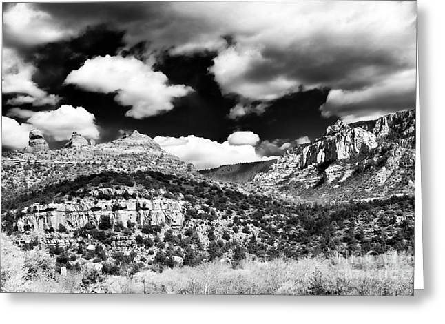 Rolling In Sedona Greeting Card by John Rizzuto