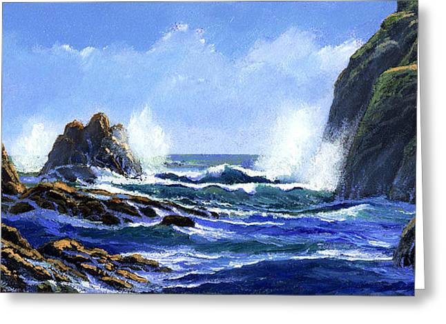 Rolling Surf Greeting Card by Frank Wilson