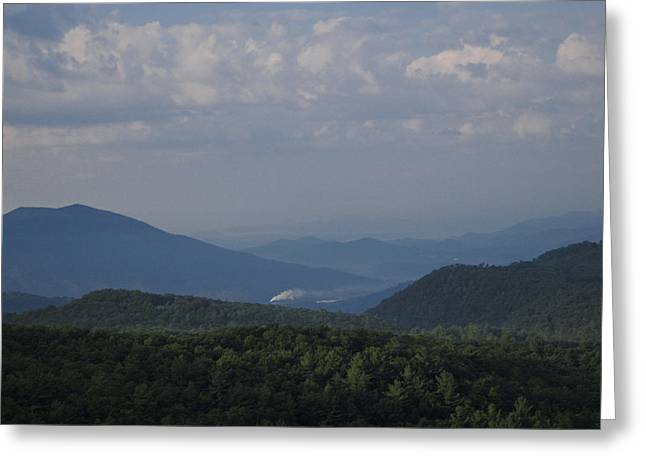 Rolling Through The Blue Ridge Greeting Card by Victoria Ashley