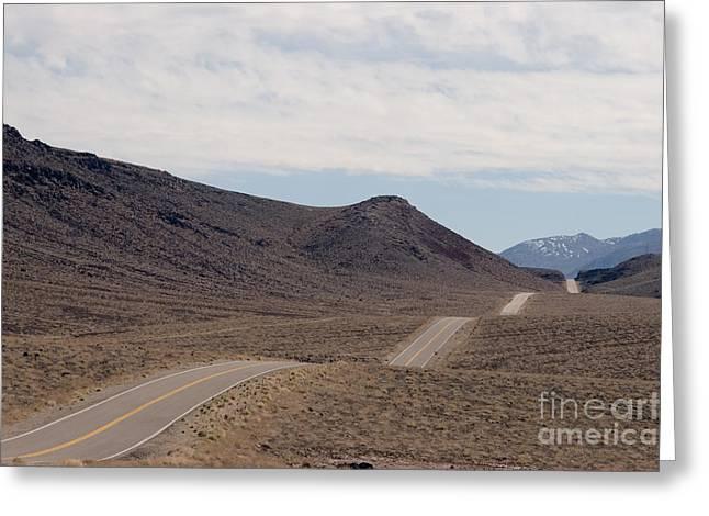 Rolling Two Lane Highway Greeting Card by Ei Katsumata