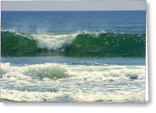 Greeting Card featuring the photograph Rolling Wave by Kelly Nowak