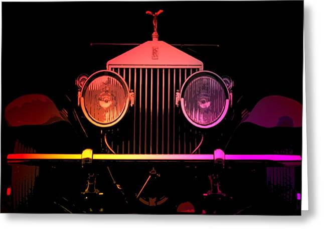 Greeting Card featuring the photograph Rolls Royce Smile by George Pedro