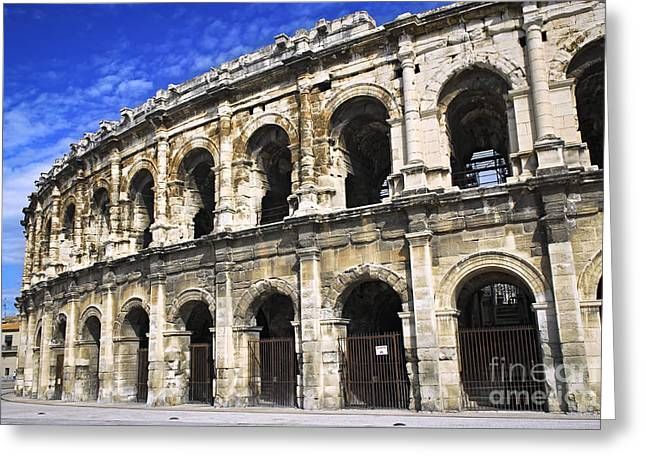 Roman Arena In Nimes France Greeting Card by Elena Elisseeva