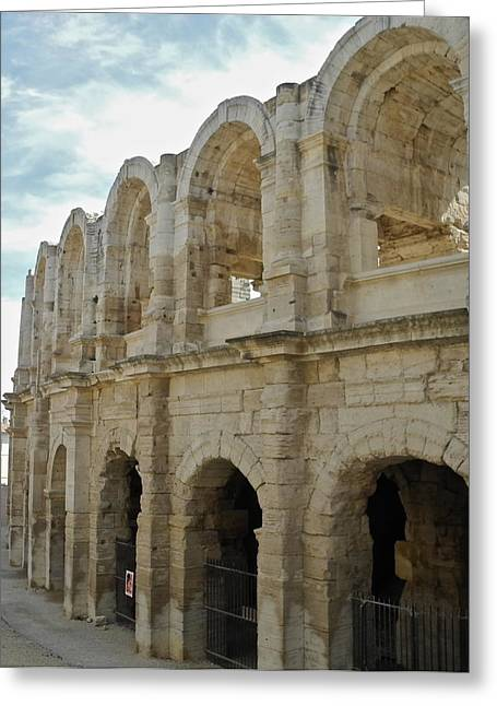 Greeting Card featuring the photograph Roman Coliseum In Arles by Kirsten Giving