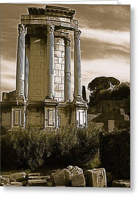 Roman Column Greeting Card by Blake Yeager