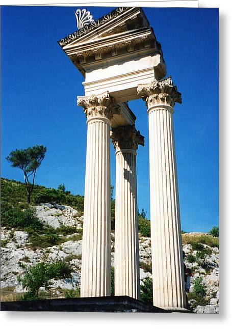 Roman Columns Of Glanum Greeting Card