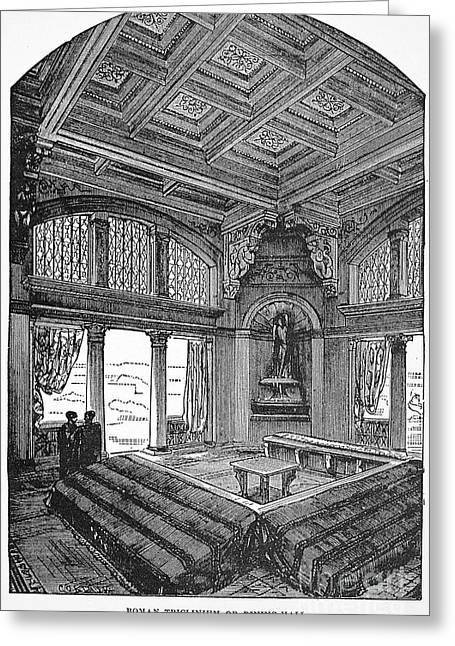 Roman Dining Hall Greeting Card