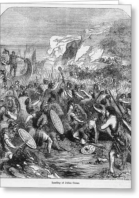 Roman Invasion Of Britain Greeting Card by Granger