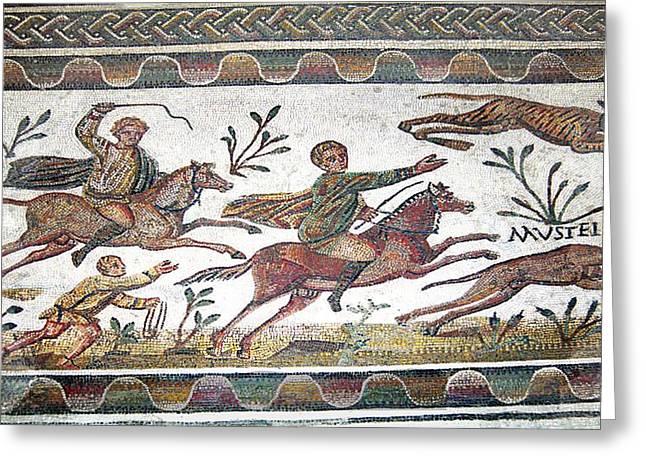 Roman Mosaic Greeting Card by Sheila Terry