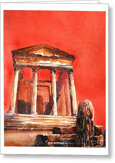 Roman Ruins- Tunisia Greeting Card by Ryan Fox