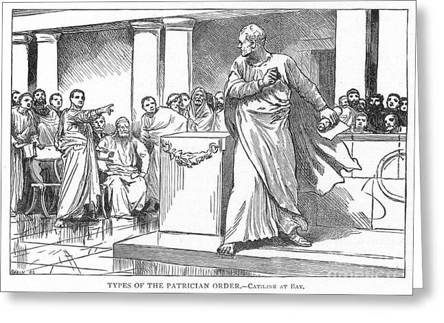 Roman Senate: Catiline Greeting Card by Granger