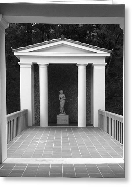 Roman Shrine  Greeting Card by Paul Washington
