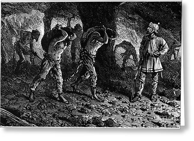 Roman Slavery: Coal Mine Greeting Card