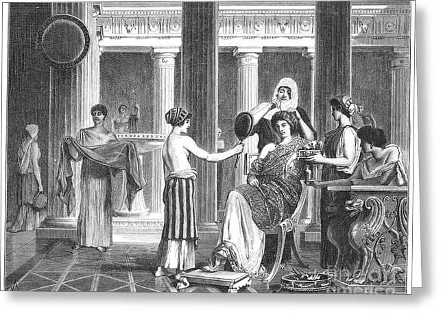 Roman Slaves & Patrician Greeting Card