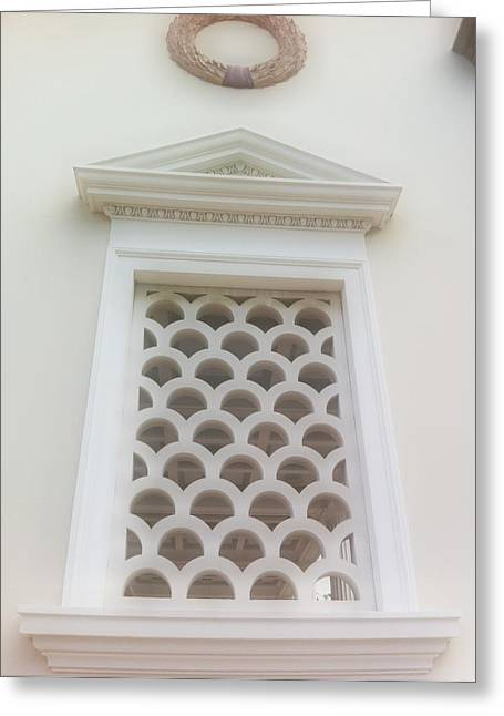 Roman Window Villa Greeting Card by Paul Washington