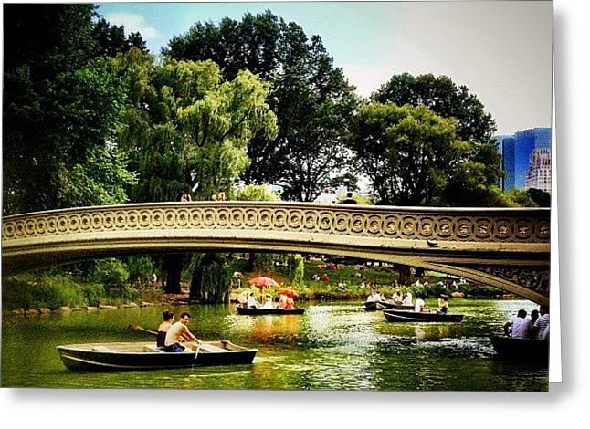Romance - Central Park - New York City Greeting Card by Vivienne Gucwa