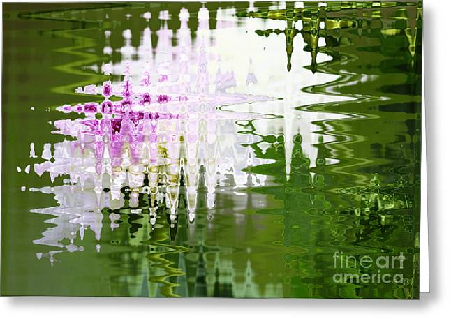 Romance In Paris - Abstract Art Greeting Card by Carol Groenen