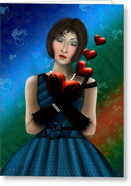 Greeting Card featuring the digital art Romance by Katy Breen