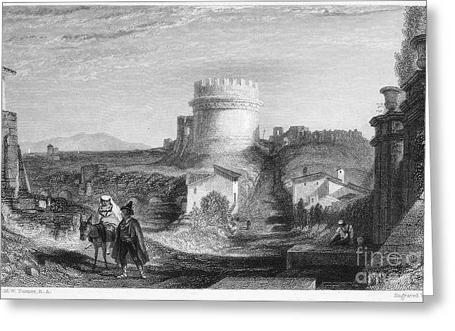 Rome: Appian Way, 1833 Greeting Card by Granger