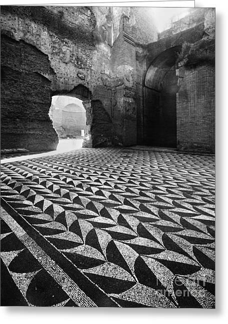 Rome: Baths Of Caracalla Greeting Card