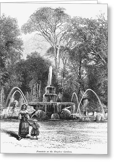 Rome: Borghese Gardens Greeting Card
