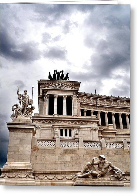 Rome Capitol Building Greeting Card by Heather Marshall