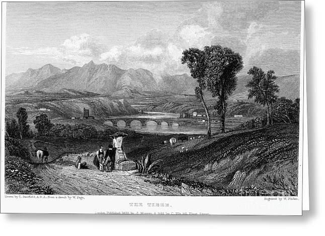 Rome: Milvian Bridge, 1833 Greeting Card by Granger