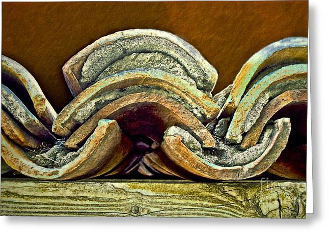 Roof Tiles Greeting Card by Gwyn Newcombe