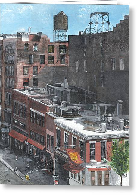 Roof Tops Ny Ny Greeting Card