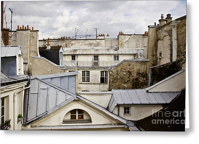 Roof Tops Greeting Card