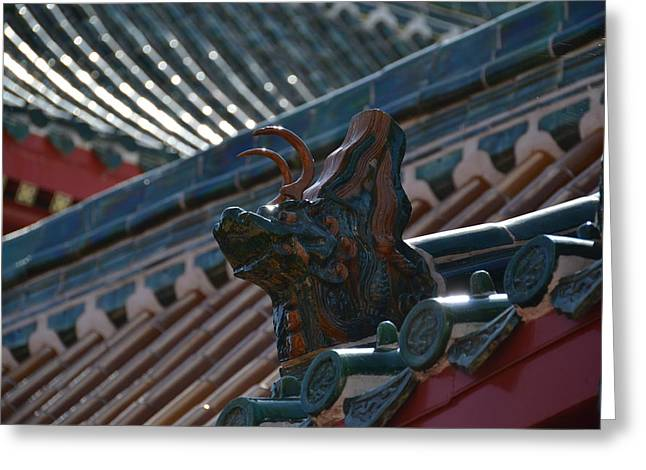 Rooftop Dragon Greeting Card