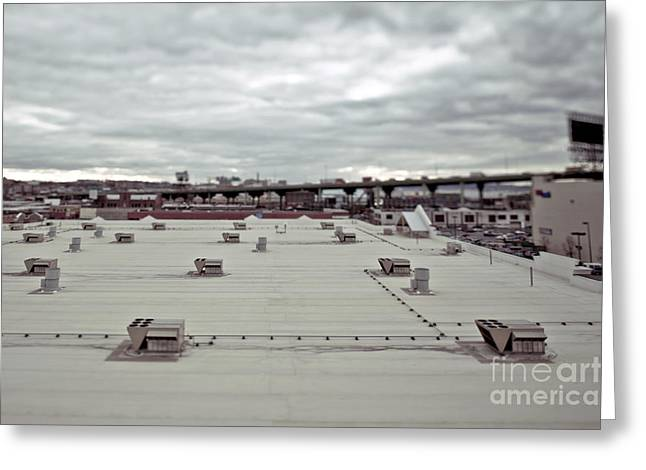 Rooftop Vents Greeting Card by Eddy Joaquim