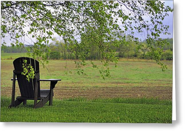 Room With A View Greeting Card by Alan Norsworthy