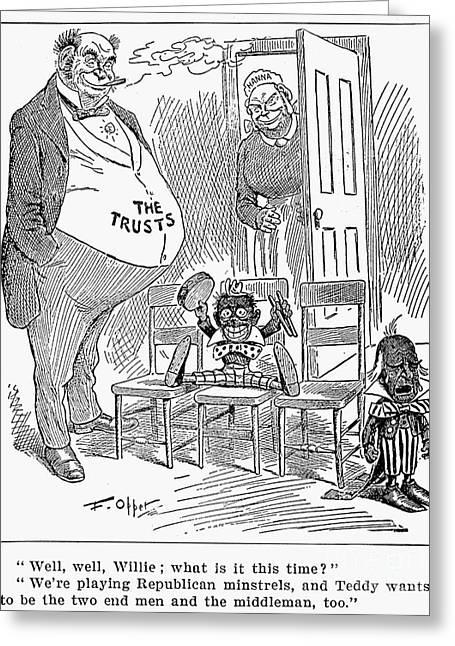 Roosevelt Cartoon, 1900 Greeting Card