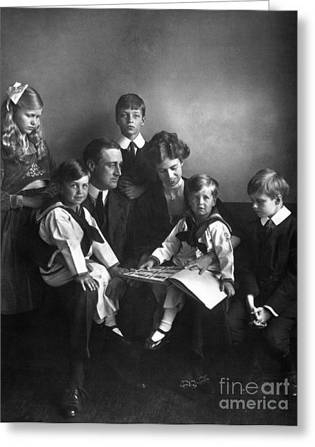Roosevelt Family, 1919 Greeting Card by Granger
