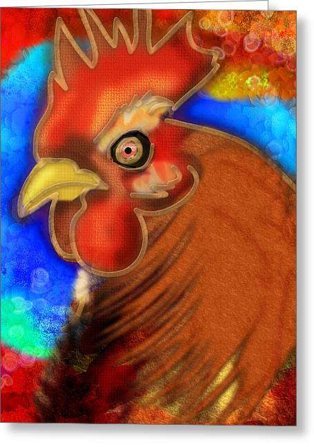 Roost King Greeting Card by Melisa Meyers