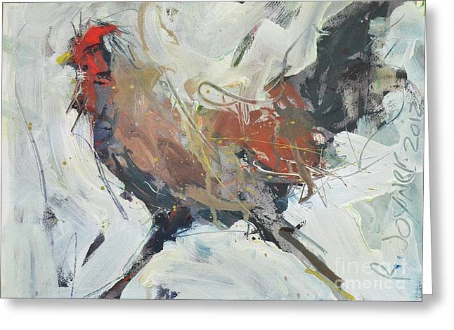 Rooster Art  Greeting Card
