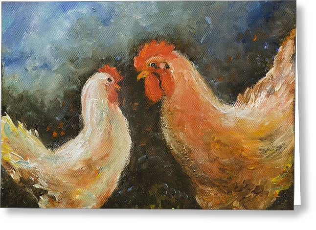 Rooster Gets Last Word Greeting Card